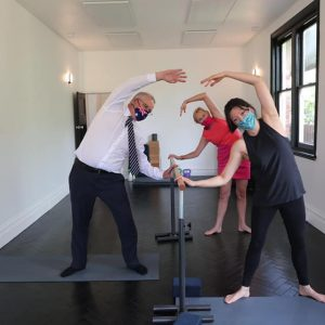 Scott Morrison learns Barre at Heal'r